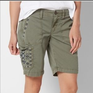 Petite SONOMA Goods for Life Embroidered Shorts
